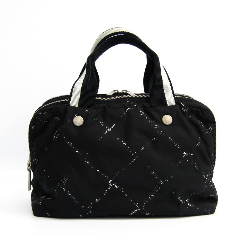 シャネル(Chanel) トラベルライン ハンドバッグ ブラック,ホワイト