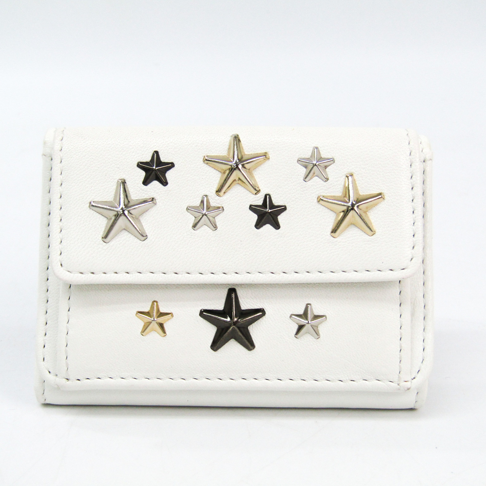 Jimmy Choo Nemo Women's Leather Wallet (tri-fold) White