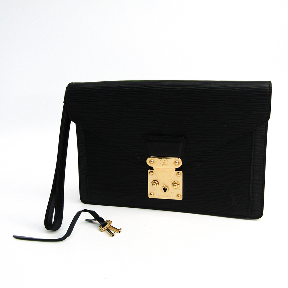 1e09b221f975 Louis Vuitton Epi Pochette Sellier Dragonne M52612 Clutch Bag Noir