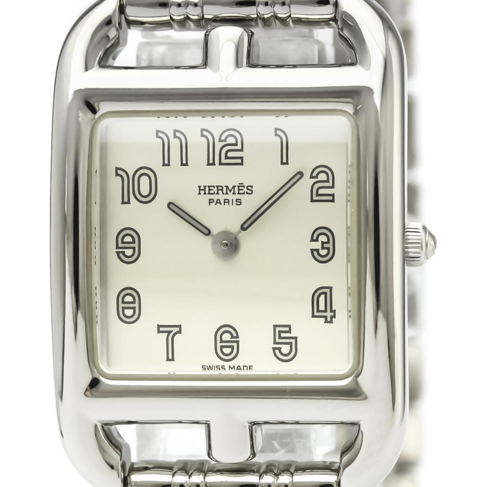 【HERMES】エルメス ケープコッド ステンレススチール クォーツ レディース 時計 CC1.210
