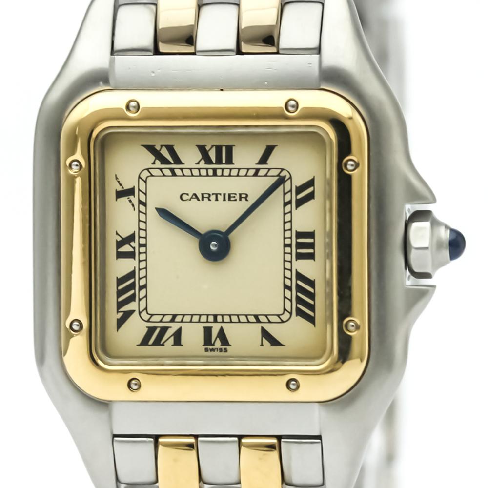 Cartier Panthere De Cartier Quartz Stainless Steel,Yellow Gold (18K) Women's Dress Watch 166921