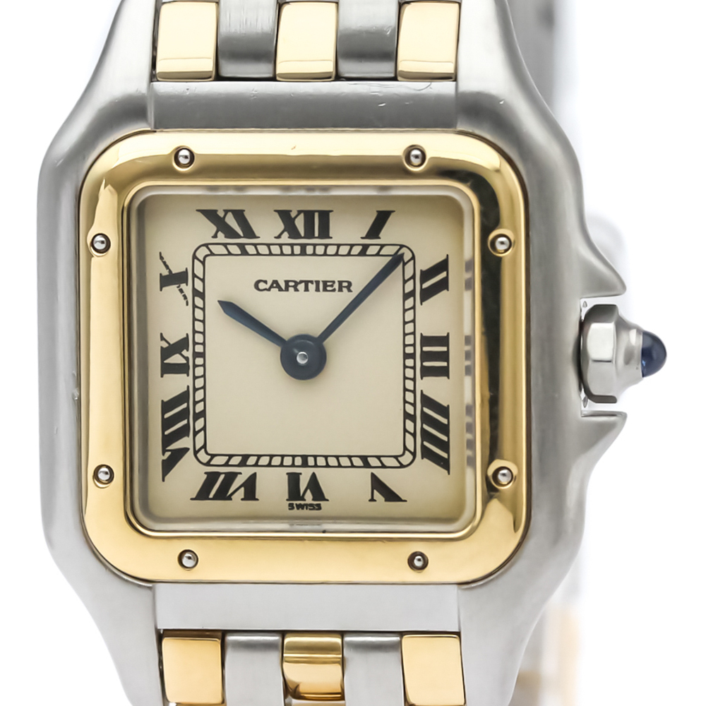 Cartier Panthere De Cartier Quartz Stainless Steel,Yellow Gold (18K) Women's Dress Watch 166921