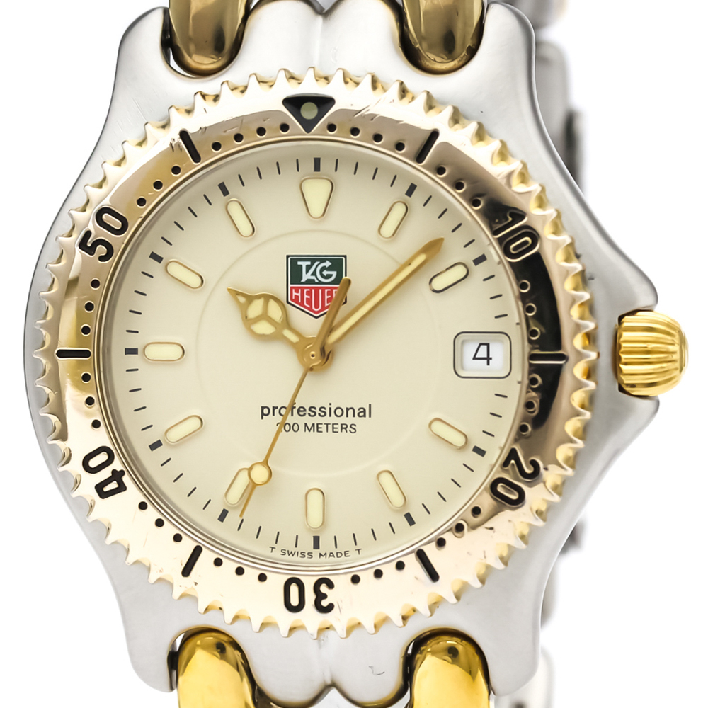 TAG HEUER Sel Professional Gold Plated Steel Mid Size Watch WG1121