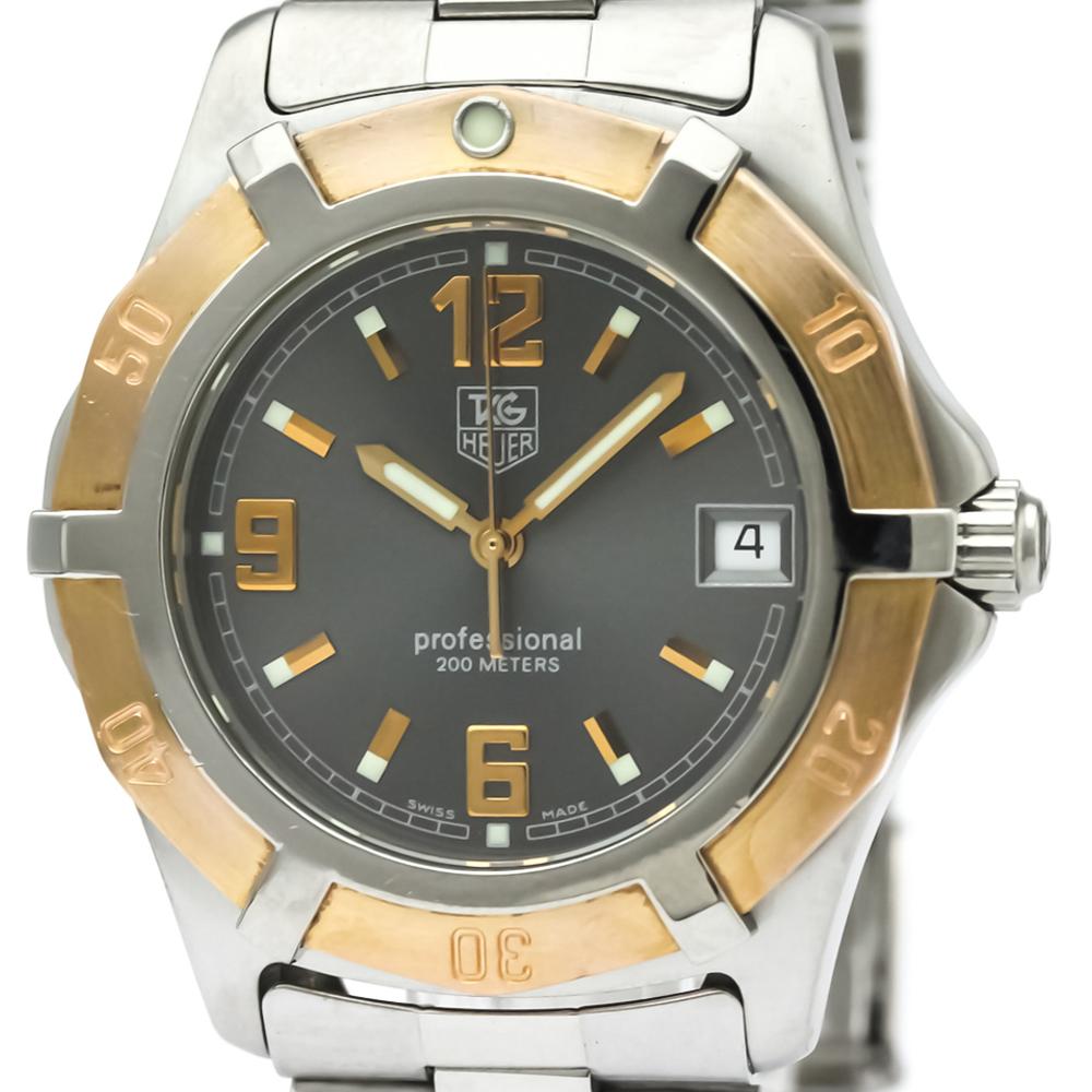 Tag Heuer 2000 Series Quartz Stainless Steel,Pink Gold (18K) Men's Sports Watch WN1151