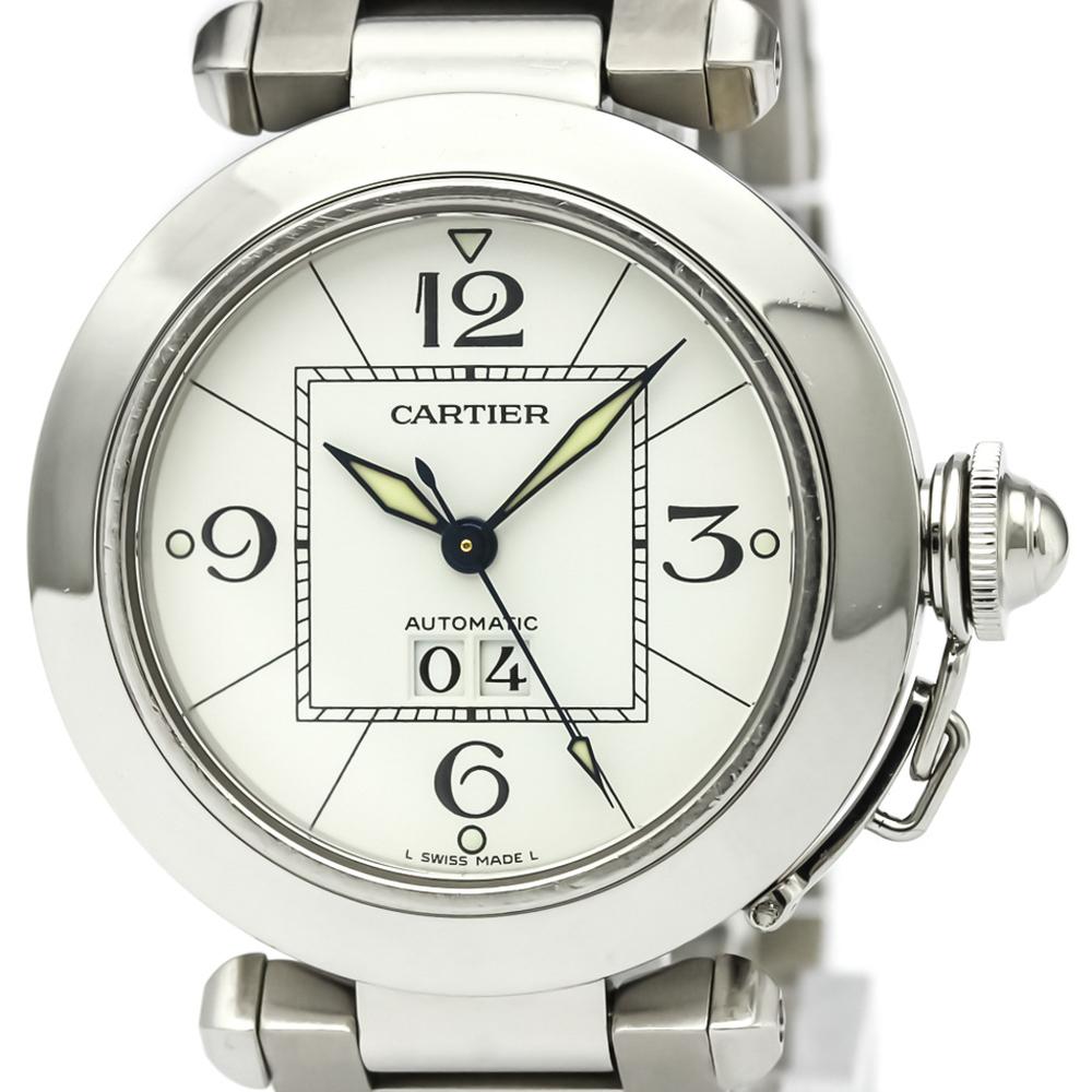 【CARTIER】カルティエ パシャC ビッグデイト ステンレススチール 自動巻き ユニセックス 時計 W31055M7