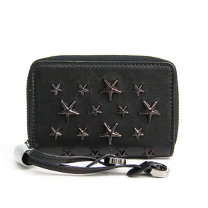 Jimmy Choo NELLIE J000079250001 Women's Leather Coin Purse/coin Case Black