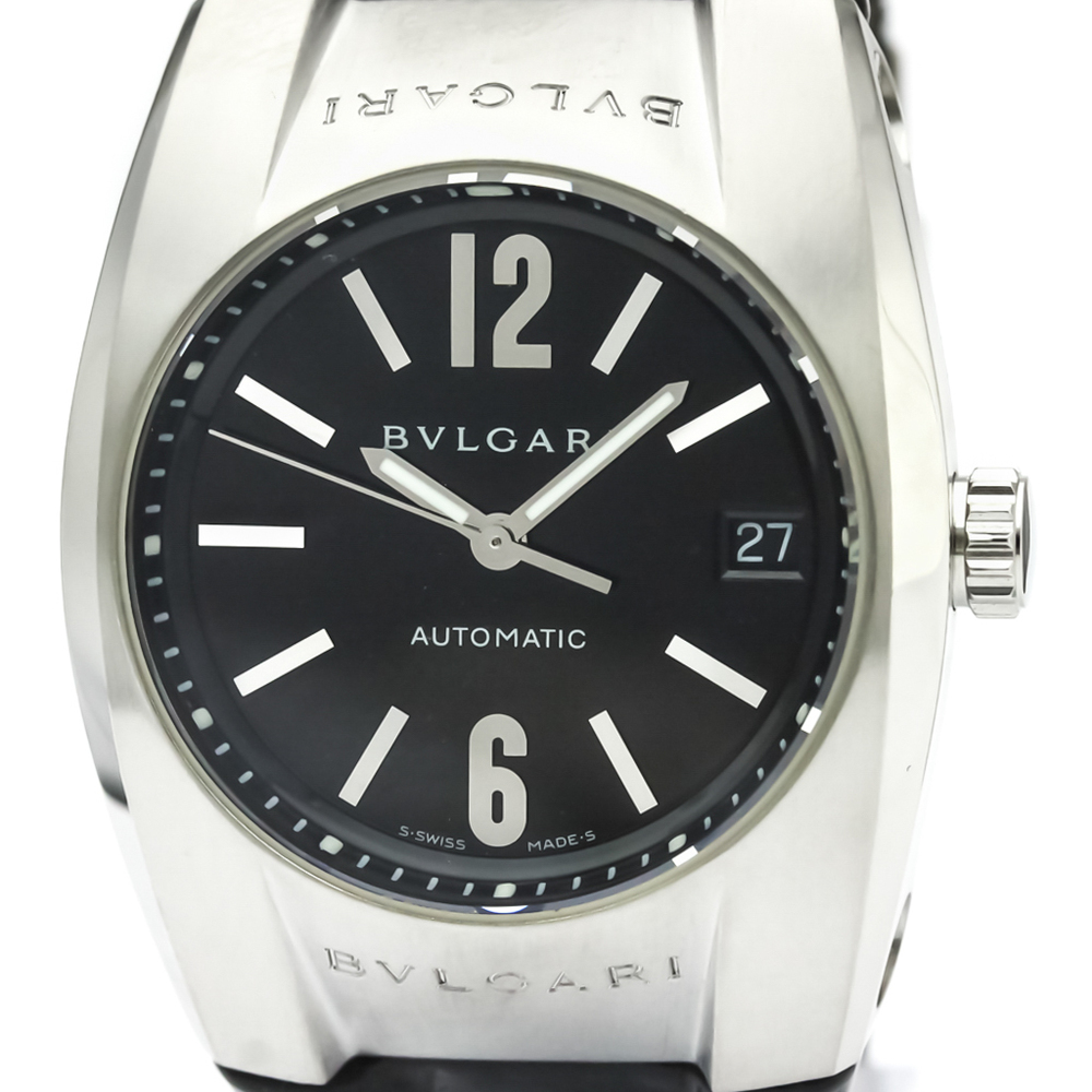 BVLGARI Ergon Steel Leather Automatic Mid Size Watch EG35S