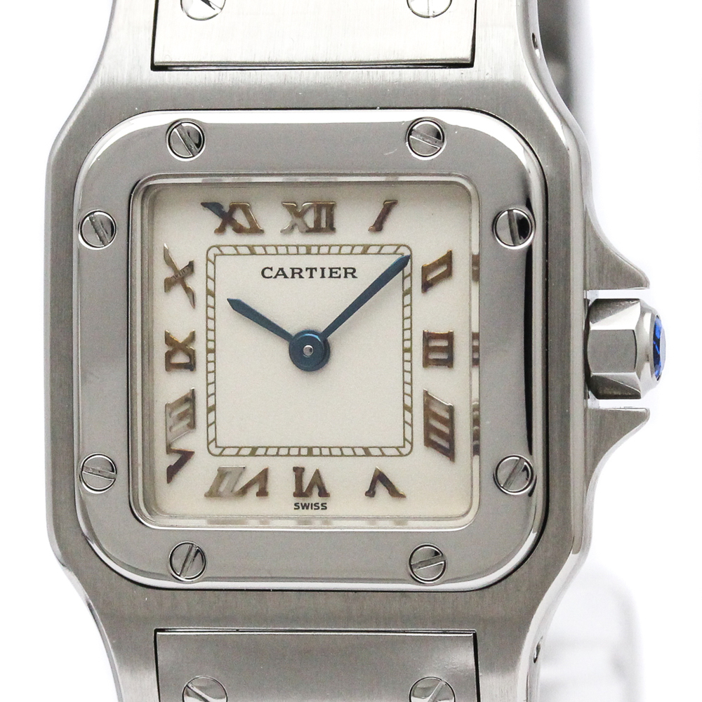 Cartier Santos Galbee Quartz Stainless Steel Women's Dress Watch