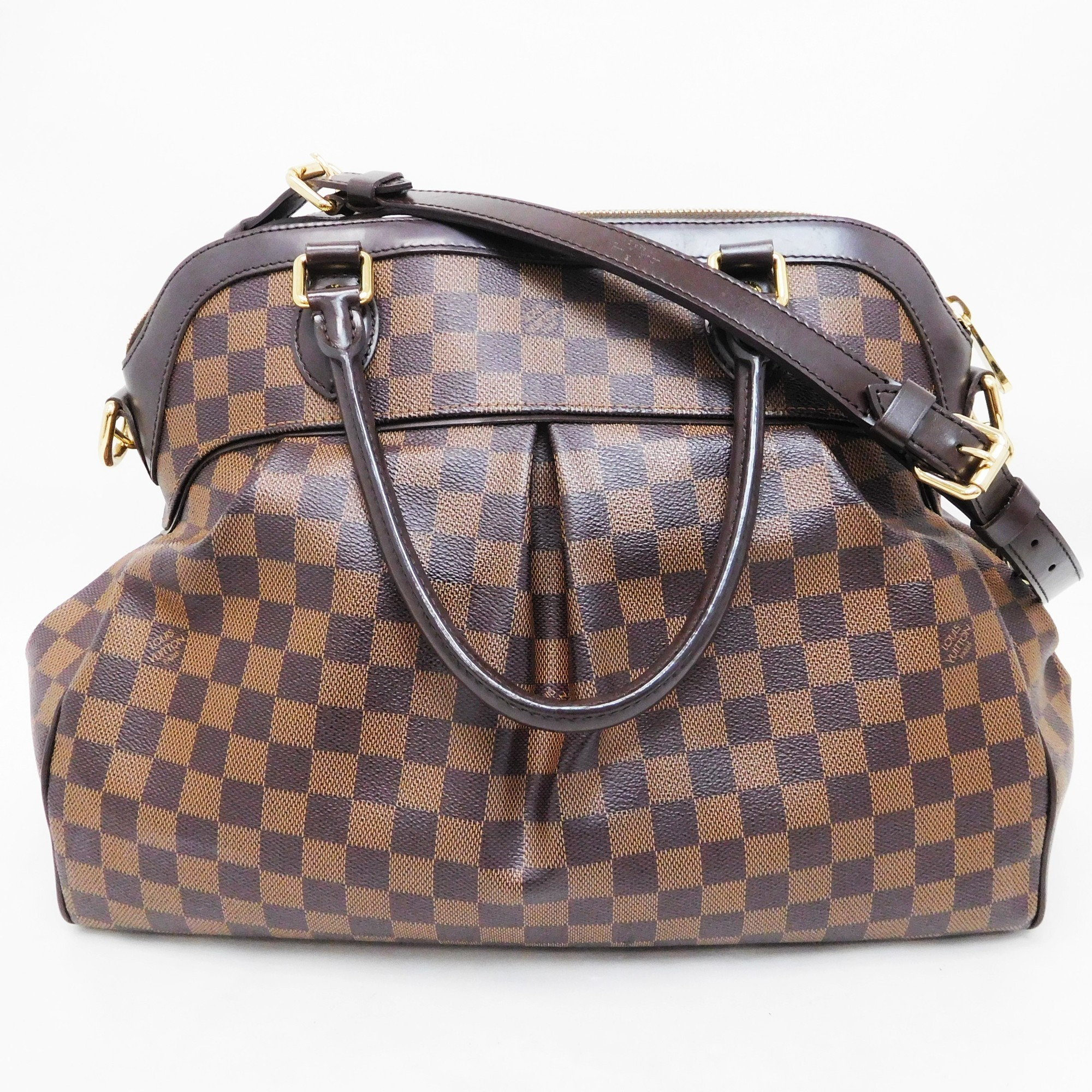 d2d09bfae459 Auth Louis Vuitton Damier Trevi GM N 51998 Handbag Brown