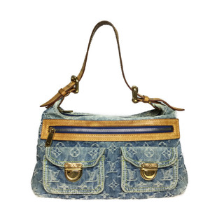 ルイ・ヴィトン(Louis Vuitton) モノグラムデニム M95049 バギーPM ショルダーバッグ ブルー