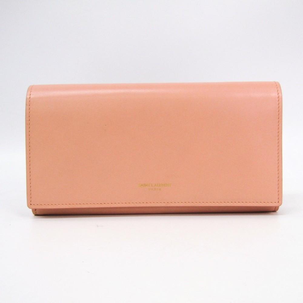 サン・ローラン(Saint Laurent) 315861 レディース レザー 長財布(二つ折り) ライトピンク