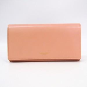 Saint Laurent 315861 Women's Leather Long Wallet (bi-fold) Light Pink