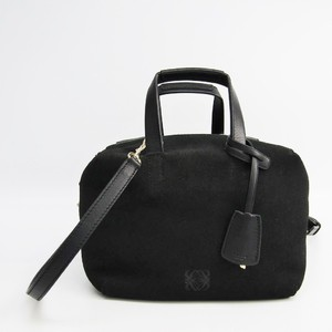 Loewe Origami Cubo 359.01.J22 Women's Leather,Suede Handbag,Shoulder Bag Black