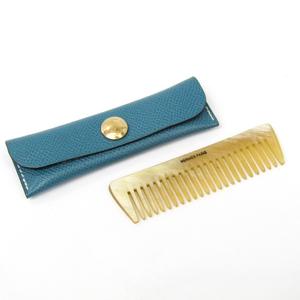 Hermes Buffalo Horn Leather Accessory Light Blue Etui Penns New Eve Pay Necked Comb