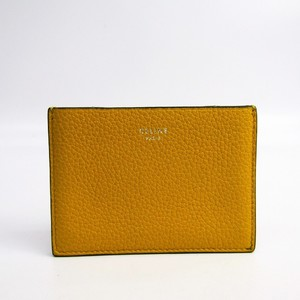 Celine 101653AFE Leather Card Case Grayish,Yellow