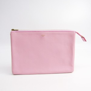Celine Women's Leather Clutch Bag Light Pink,Orange