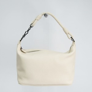 Bottega Veneta Women's Leather Shoulder Bag Off-white