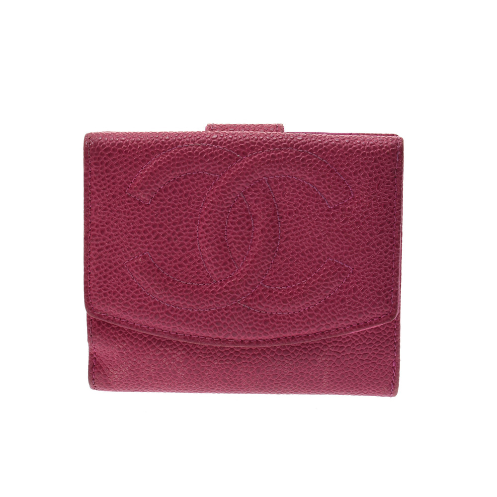 Chanel Caviar Leather Wallet (bi-fold) Pink