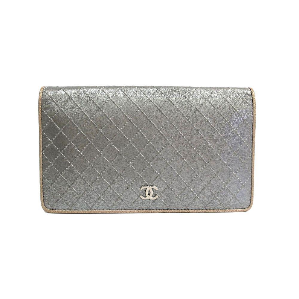 Chanel Bicolor A33911 Women's Long Wallet (bi-fold) Silver,Gold