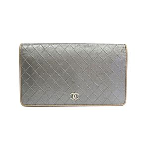 シャネル(Chanel) ビコローレ A33911 レディース  ゴートスキン 長財布(二つ折り) シルバー,ゴールド