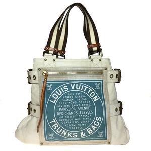 ルイ・ヴィトン(Louis Vuitton) クルーズ M95114 グローブショッパーMM トートバッグ ベージュ,ブルー