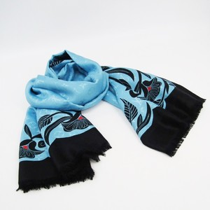 Louis Vuitton Monogram Anachronism-monogram-shawl MP2188 Women's Silk Wool Shawl Black,Blue