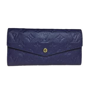 ルイ・ヴィトン(Louis Vuitton) モノグラムアンプラント M60490 ポルトフォイユ・キュリーズ 長財布(二つ折り) セレスト