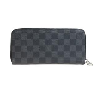 【中古】 ルイ・ヴィトン(Louis Vuitton) ダミエグラフィット N63095 ジッピーウォレット ヴェルティカル 長財布(二つ折り)
