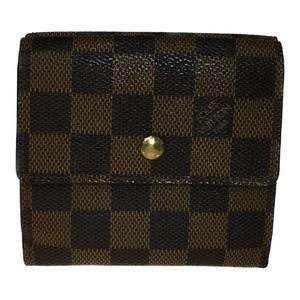 ルイ・ヴィトン(Louis Vuitton) N61652 ポルトフォイユ エリーズ ダミエキャンバス 財布(二つ折り) エベヌ