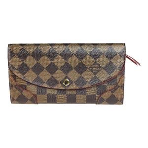 【中古】 ルイ・ヴィトン(Louis Vuitton) ダミエ N61221 ポルトフォイユ・カイサ 財布(二つ折り) エベヌ スリーズ