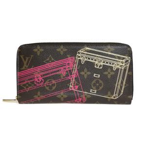 ルイ・ヴィトン(Louis Vuitton) モノグラム トランクプリント M58507 ジッピーウォレット 札入れ(二つ折り)