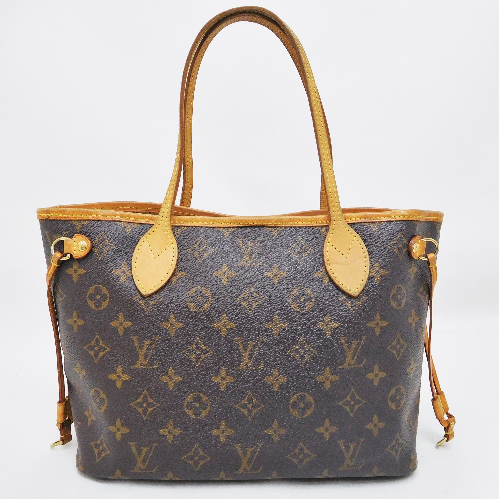 Auth Louis Vuitton Monogram Neverfull PM M40155 Women s Tote Bag Brown a572940a1bea2