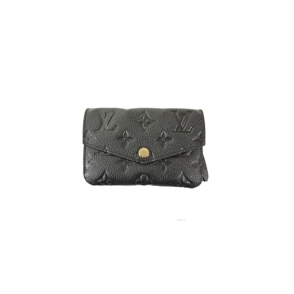 Auth Louis Vuitton Coin Purse Monogram Empreinte posixettokure M60633 Noir
