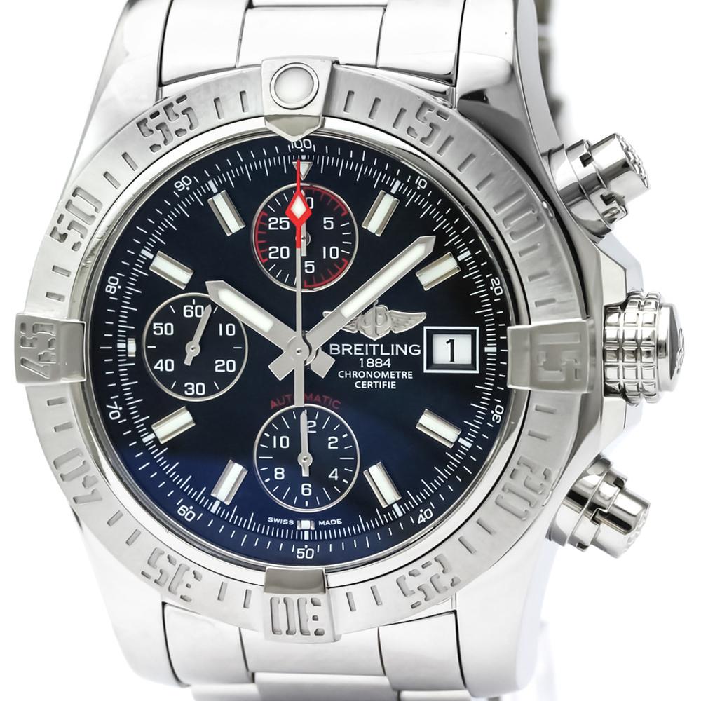 【BREITLING】ブライトリング アベンジャー ll クロノグラフ ステンレススチール 自動巻き メンズ 時計 A13381