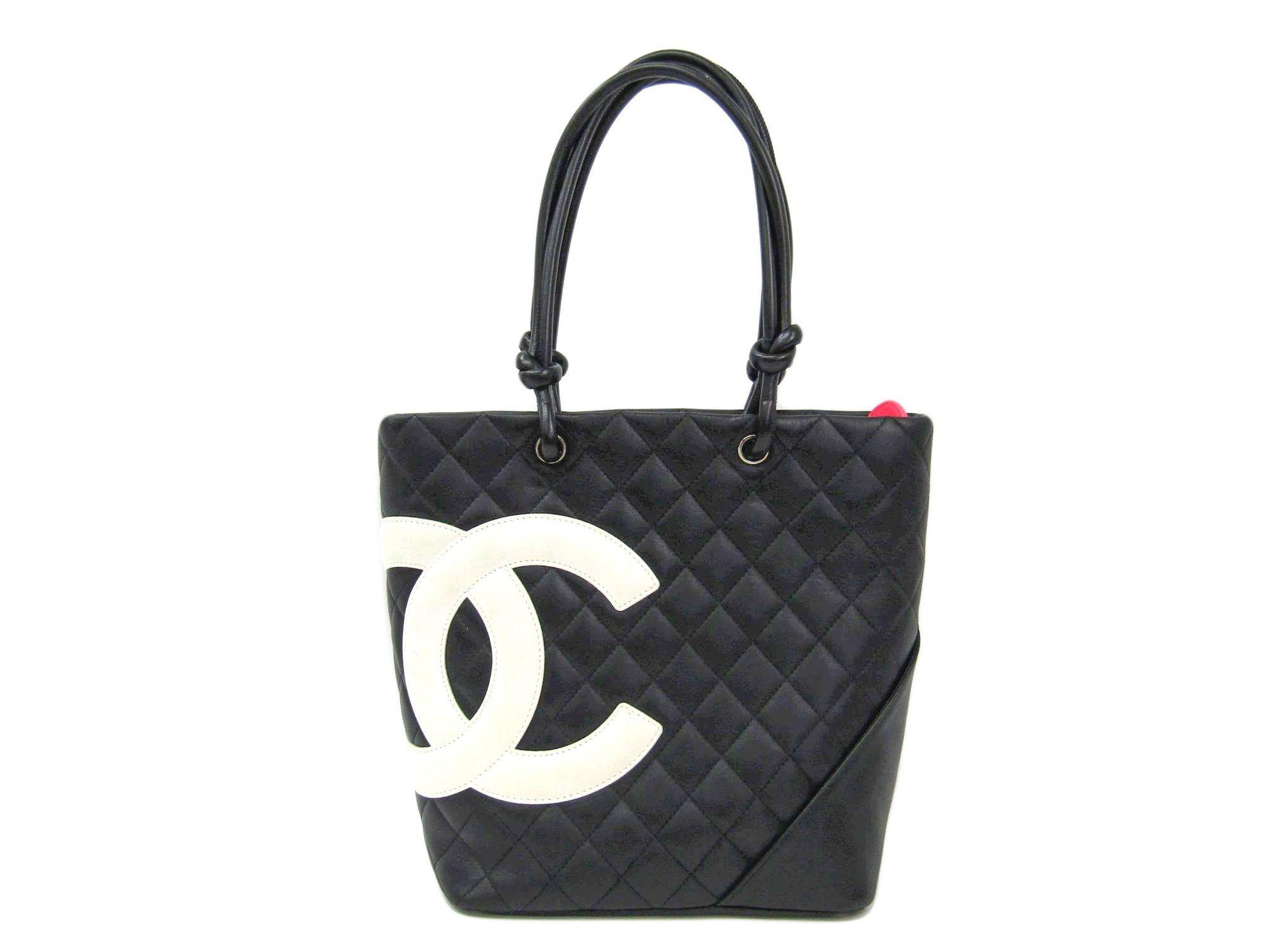9da14c15e15a Chanel Ligne Cambon A25167 Women's Cambon Ligne Tote Bag Black,White  BF308114