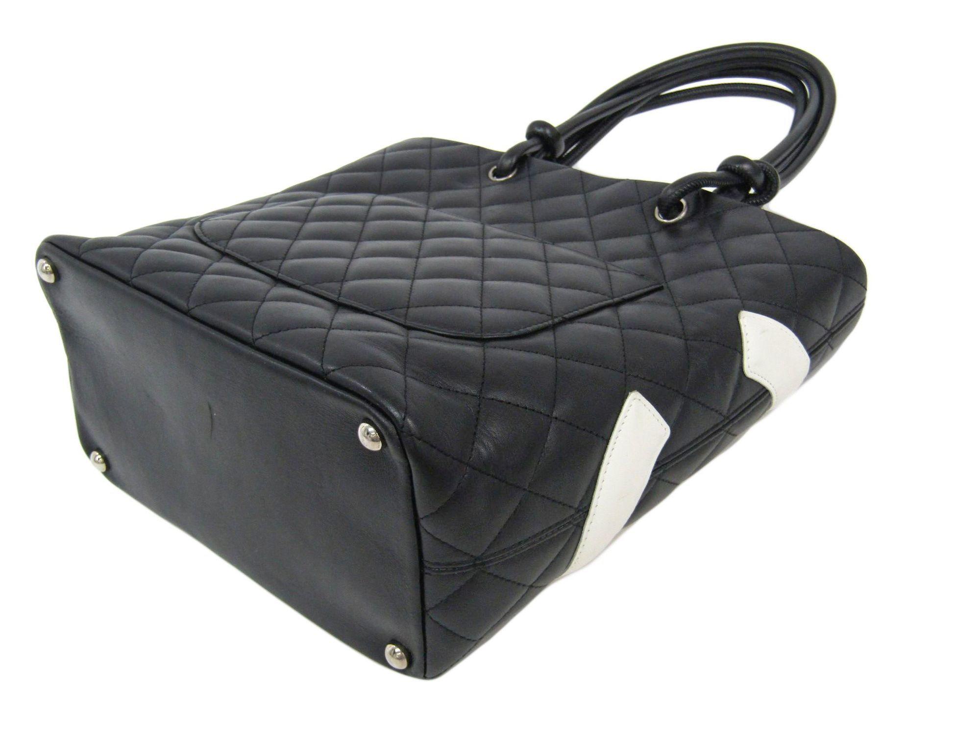 23868c998c5a Chanel Ligne Cambon A25167 Women's Cambon Ligne Tote Bag Black,White ...
