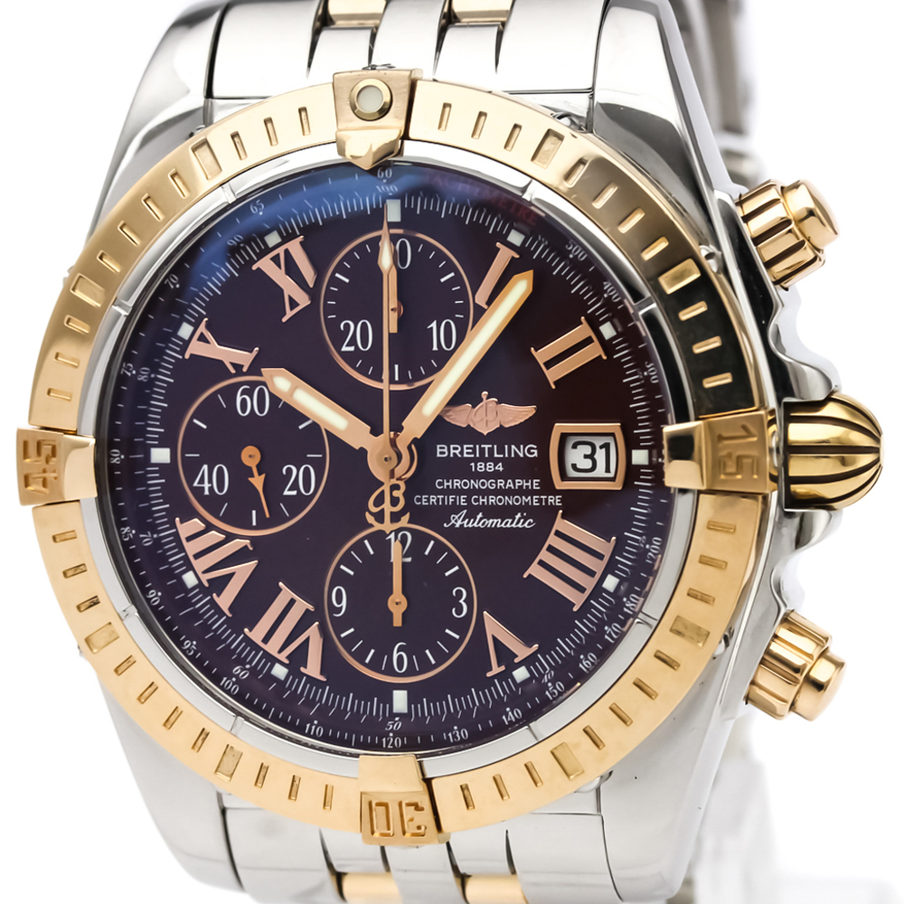 Breitling Chronomat Automatic Stainless Steel,Pink Gold (18K) Men's Sports Watch C13356