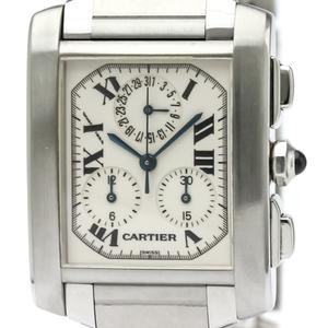 カルティエ(Cartier) タンクフランセーズ クォーツ ステンレススチール(SS) メンズ ドレスウォッチ W51001Q3