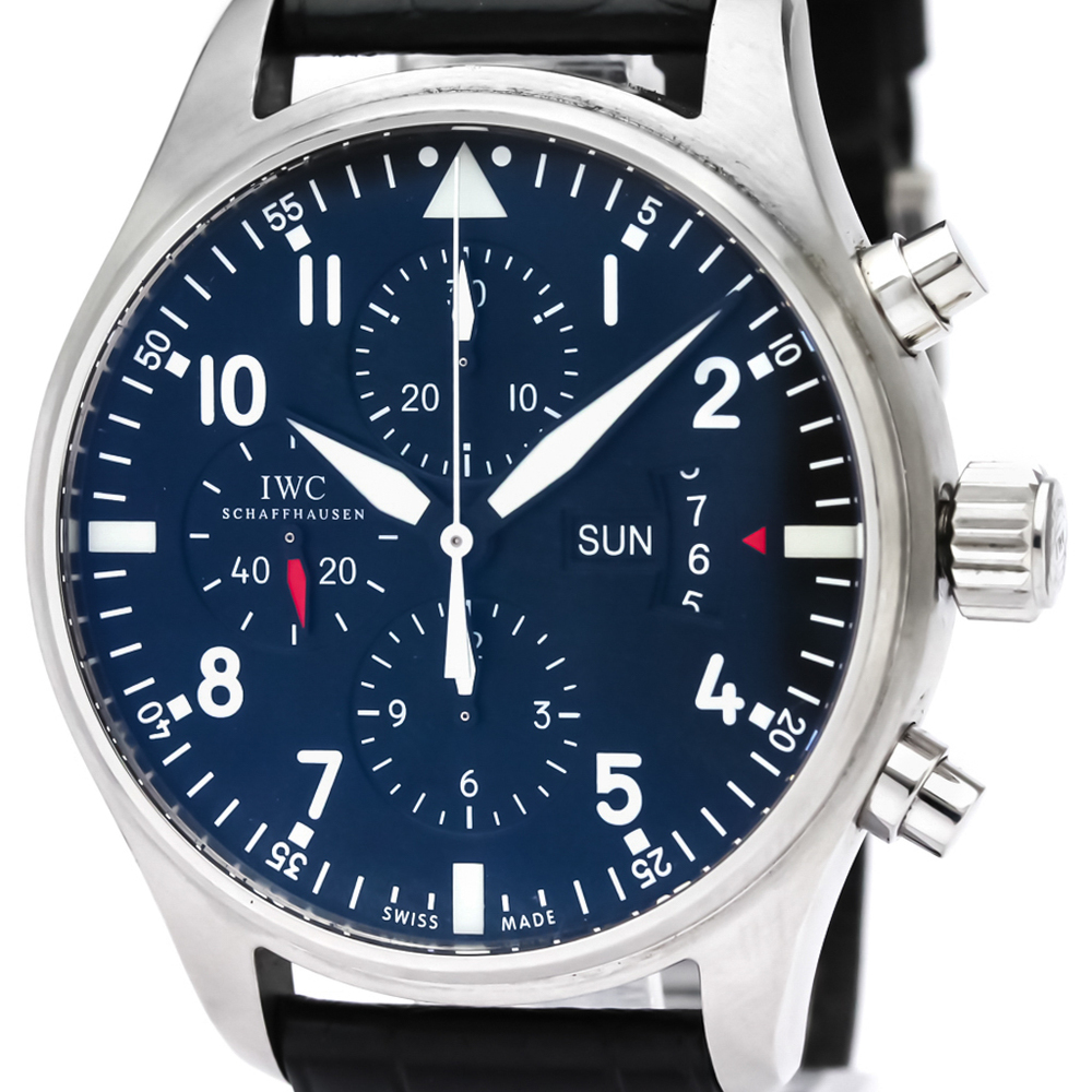 IWC Pilot Chronograph Steel Automatic Mens Watch IW377701