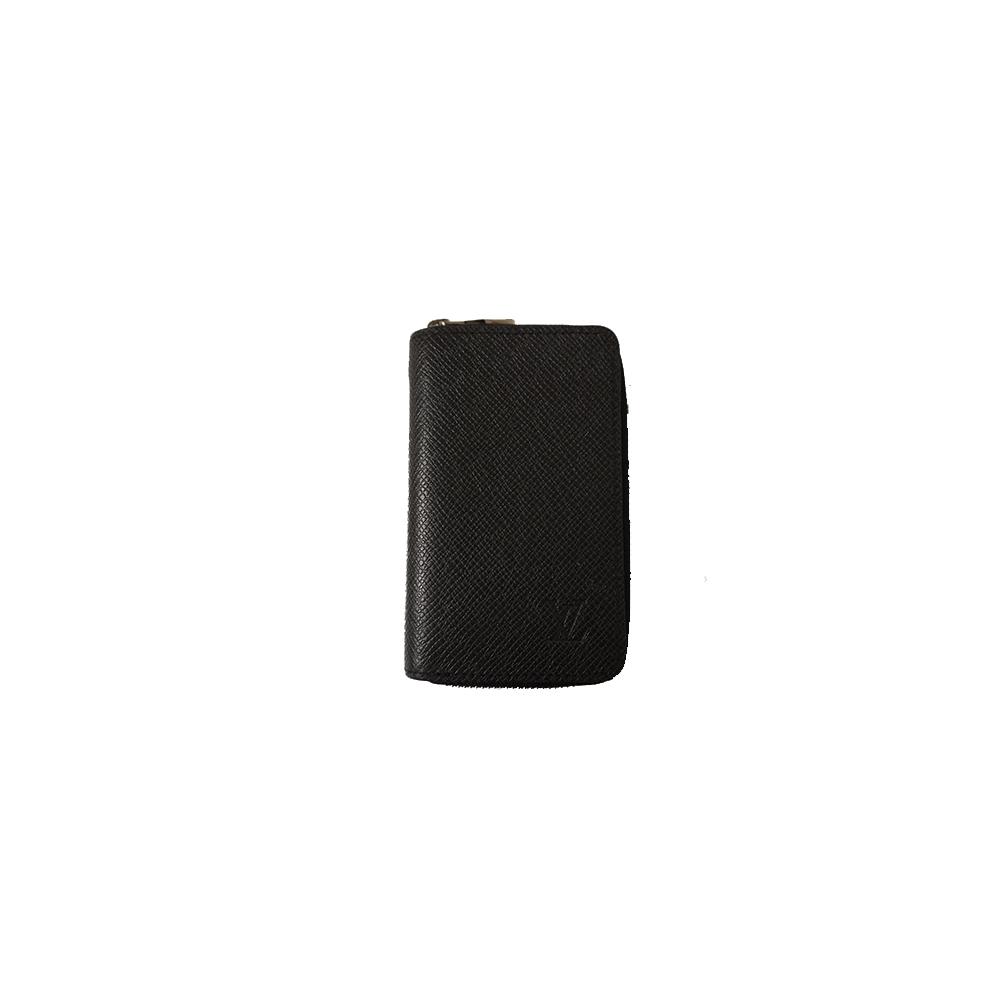 Auth Louis Vuitton Taiga Zippy Coin Purse M30511 Ardoise