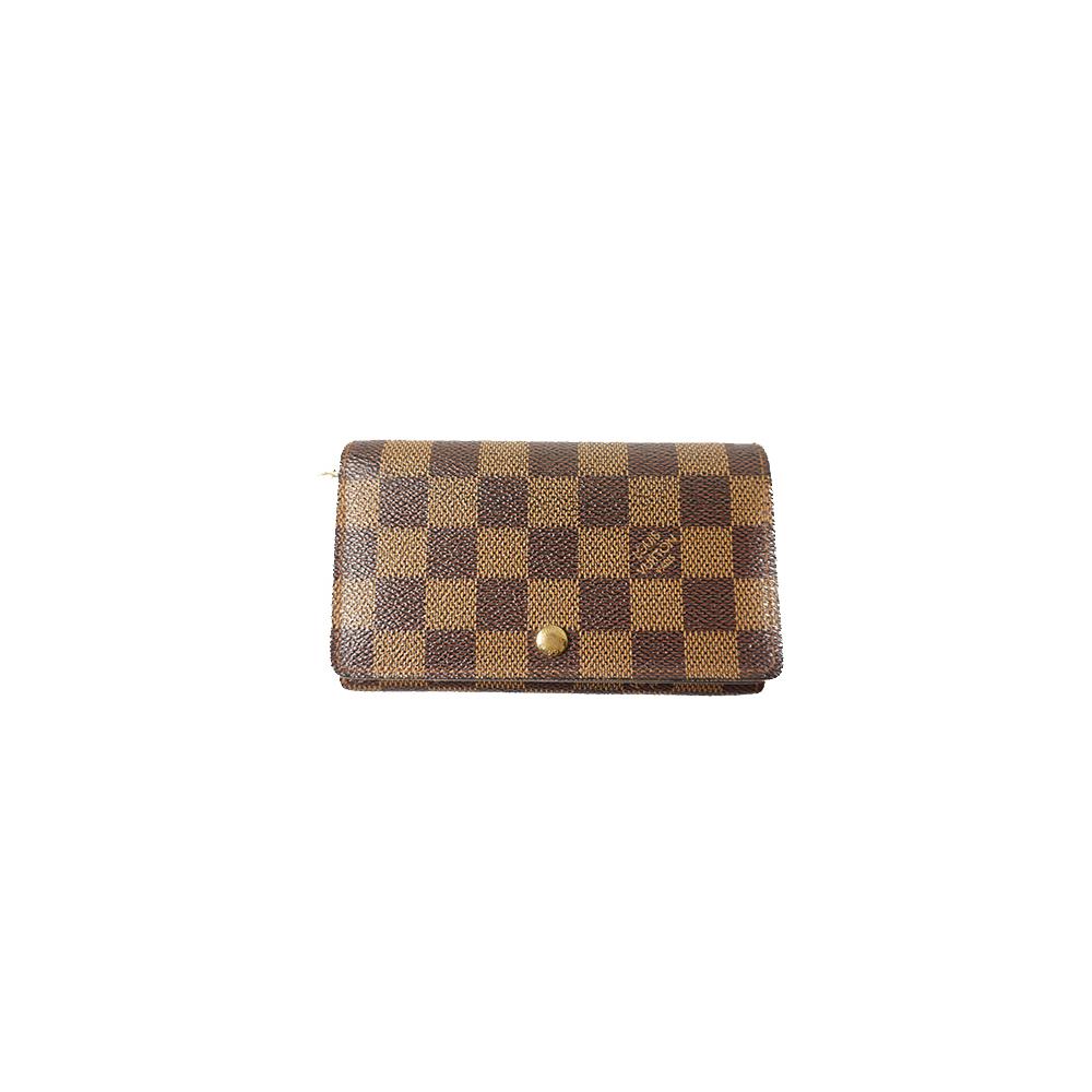 Auth Louis Vuitton Wallet Damier Porte Monnaie Billets Tresor N61730