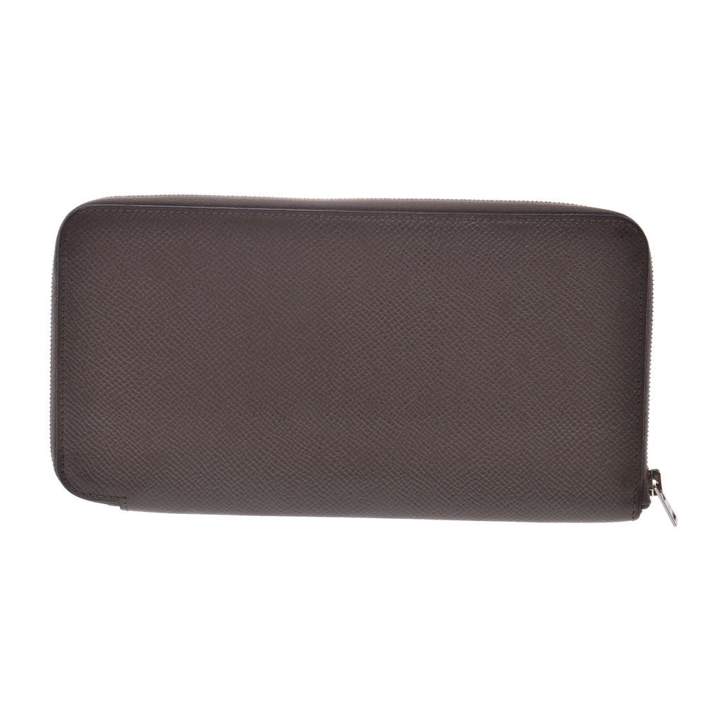 Hermes Azap Epsom Leather Wallet Etoupe Gray