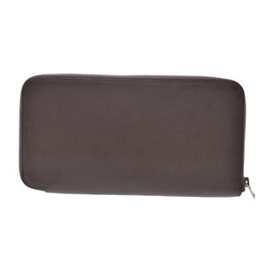 Hermes Azap Epsom Leather Wallet Etoupe Gray