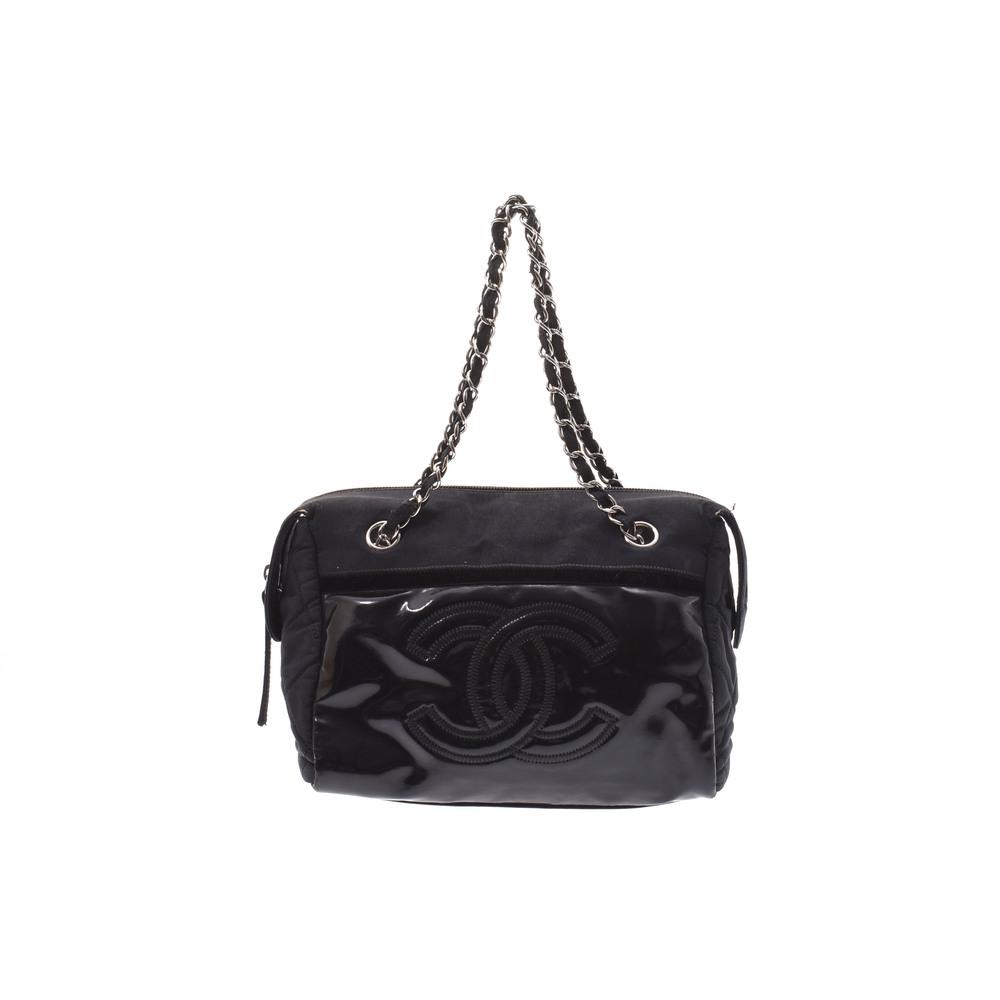 シャネル(Chanel) レザー ハンドバッグ ブラック