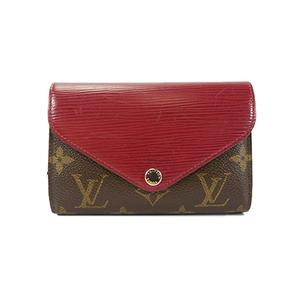 Auth Louis Vuitton Monogram Portefeuille Marie Lou Compact M60494 Fuchsia