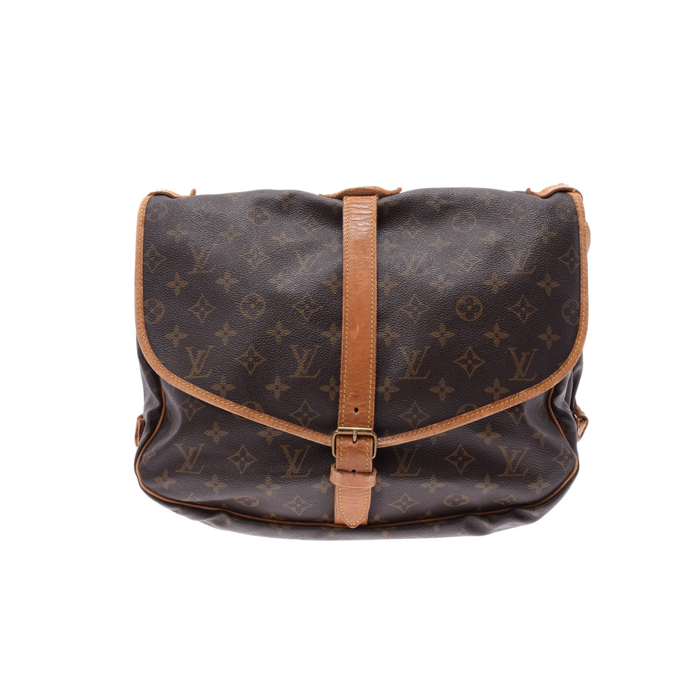 Louis Vuitton Monogram Saumur 35 Brown M42254 Women's Leather Shoulder Bag