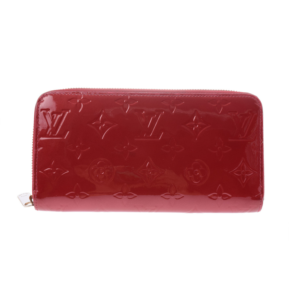 ルイ・ヴィトン(Louis Vuitton) モノグラムヴェルニ Zippy M91981 モノグラムヴェルニ 長財布(二つ折り) ポムダムール