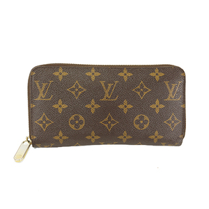 Auth Louis Vuitton Long wallet Monogram Zippy Wallet M60017