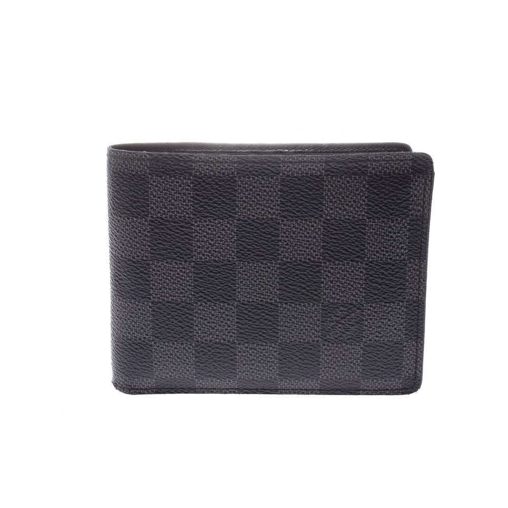 Louis Vuitton Damier Graphite N63074 Damier Graphite Wallet (bi-fold) Damier Graphite