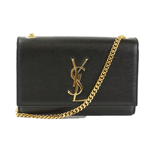 Saint Laurent チェーンショルダーバッグ Chain Shoulder Bag Women's Leather Shoulder Bag Black
